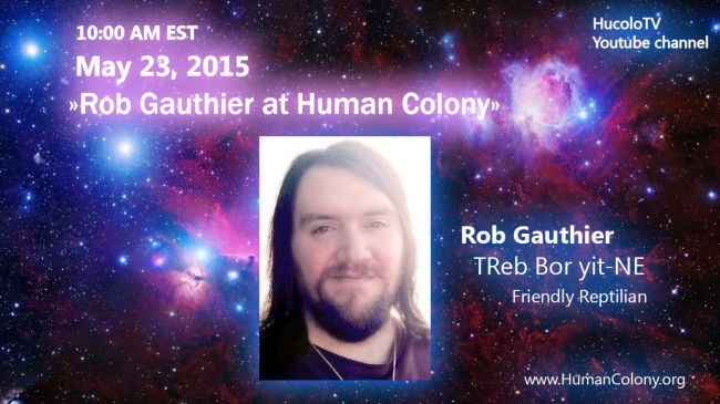 Rob Gauthier at Human Colony Event