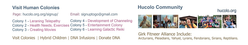 Hucolo Community – Channeling, First Contact, Ascension, Hybrid